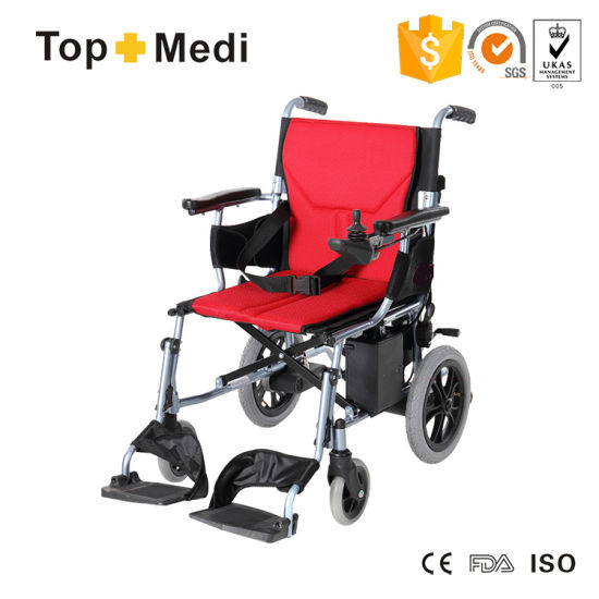 Topmedi Double Controller Electric Power Mobility Wheelchair pictures & photos