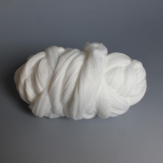 3D*102mm Virgin Polyester Tops -High Bulk Optical White Polyester Tops Direct pictures & photos
