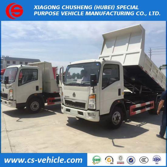 China Sinotruk HOWO 120HP Mini 5tons Dump Truck Price in
