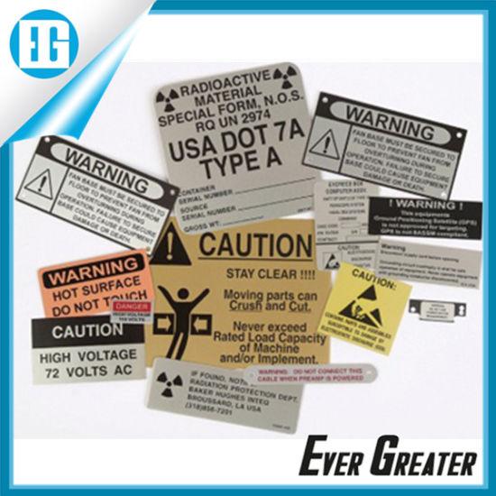 OEM Logo Plate Aluminum Labels for Advertising
