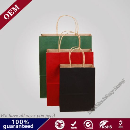 "8 X 4 3/4"" X 10 1/4"" Shopping Grocery Paper Bag - 250 Per Case 100% Recycled Paper pictures & photos"