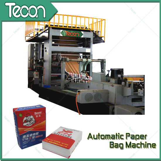 High Speed Chemical Kraft Paper Valve Bag Making Machine pictures & photos