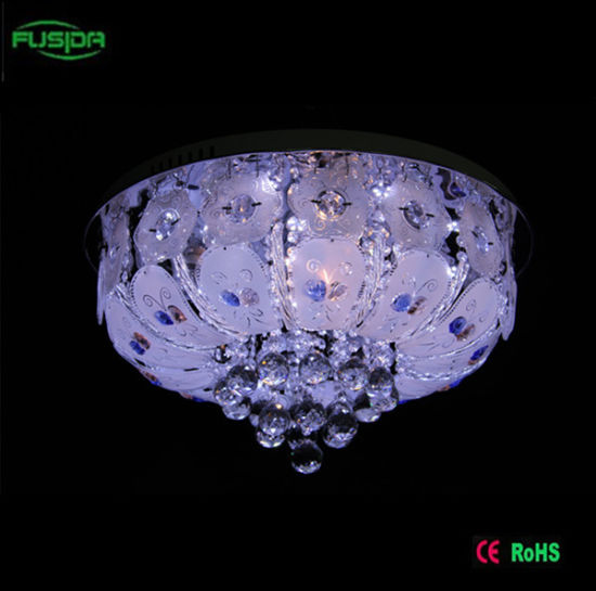 China Round Glass Crystal Chandelier Ceiling Light Covers Glass ...