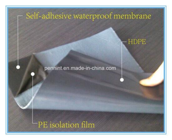 China 1 0mm~2 0mm Low Prices Self Adhesive Bitumen Waterproof