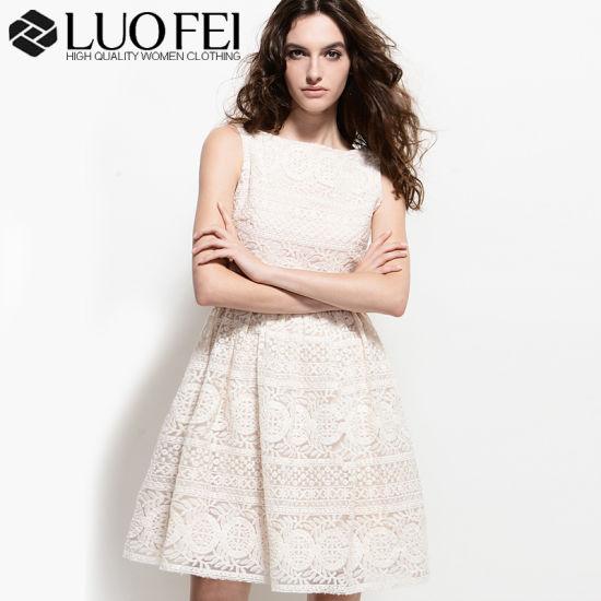 e98b167e09f China Designer Lady White Allover Floral Lace Organza Embroidery ...