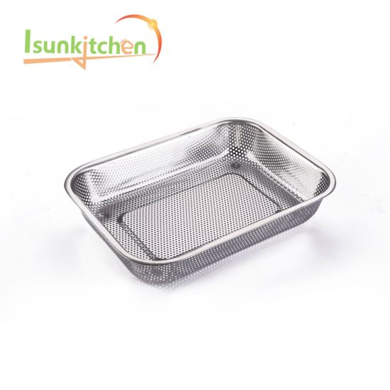Kitchen Wares Food Grade Accessories Stainless Steel Colander Basket pictures & photos