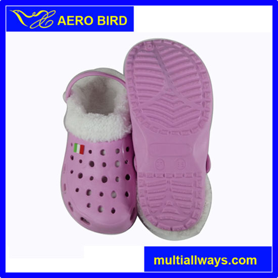 Hot Sale Winter Warm Women EVA Plush Children Garden Clogs pictures & photos