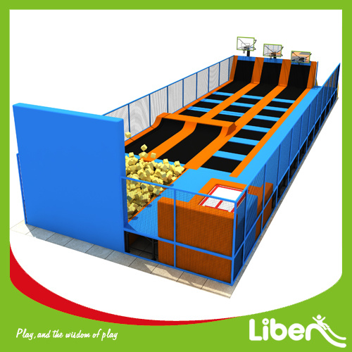 China Professional Basketball Hoop Adults Long Indoor Trampoline Park pictures & photos