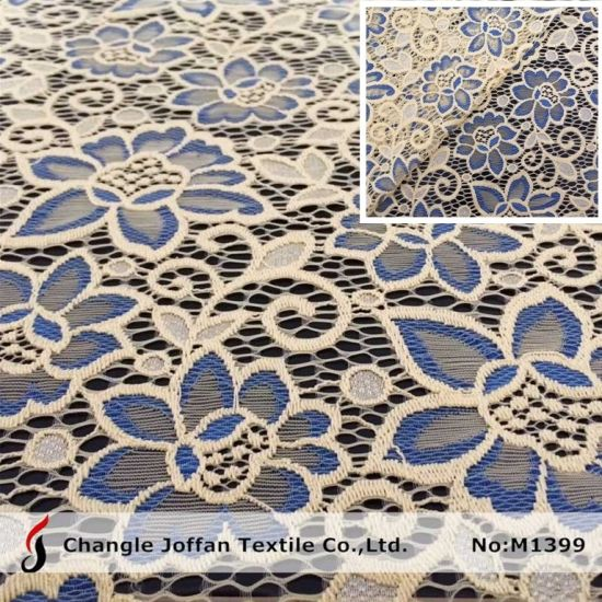 Garment Embroidery Fabric Nylon Lace Fabric African Indian Lace (M1399)