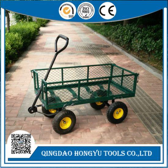 300kgs Capacity Steel Mesh Garden Tool Cart Utility Toolcart
