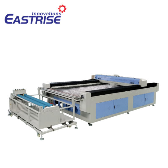 CNC Automatic Clothes Mat Carpet Cloth Textile Farbic Laser Cutting Machine with Auto Feeder