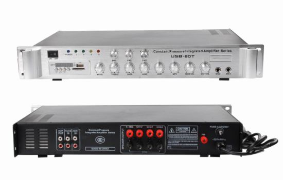 80W Portable Amplifier Audio Mixer with MP3 Player (USB-80T)