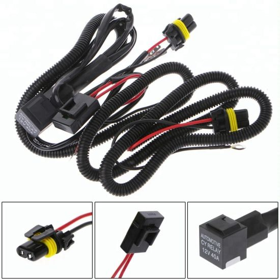 Headlight Fog Light H1 H7 H8 9oo5 9oo6 Wire Harness Cable on