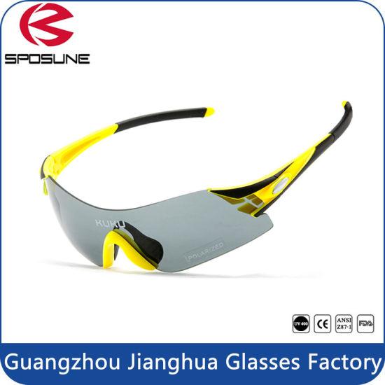 db457b35d873 Rimless Polarized Sports Eyewear Wrap Around Sunglasses pictures & photos