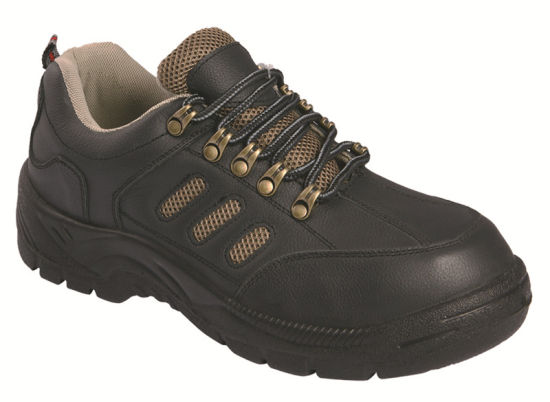 Ufa107 Black Steel Toe Safety Shoes pictures & photos