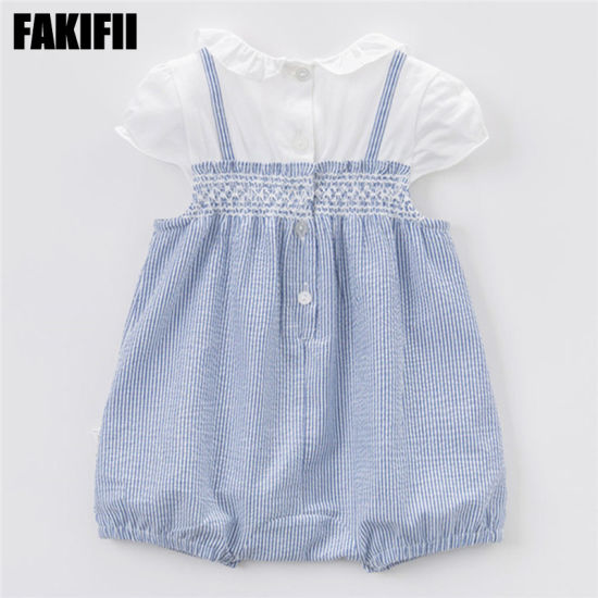 China Wholesale Baby Wear Fashion Clothing Summer Cotton Infant Romper Children Garment