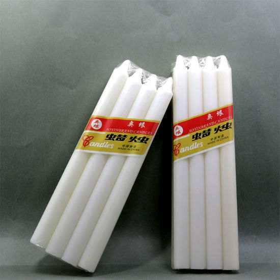 Wholesale Pillar Shape White Wax Candles pictures & photos
