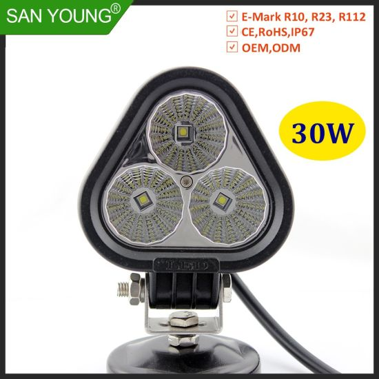 30W CREE Spotlight Floodlight LED Driving Light LED Work Light for Motercycle Offroad 4X4 Snowmobile