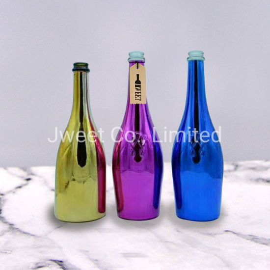 Wholesale Electroplate Colors Gorgeous Round Shape Brandy Glass Bottle