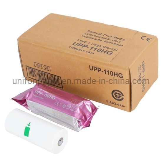 Ultrasound Printer Paper Glossy Thermal Upp-110hg Upp-110s Paper for Sony MD400 Ultrasound Machine