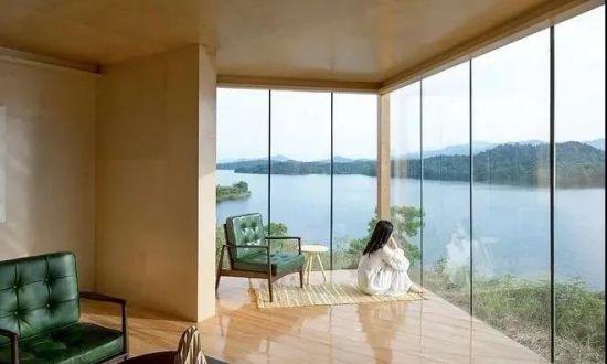 Aluminium Alloy Modern Design Slim Frame French Window, Bullet Proof Security Glass Window