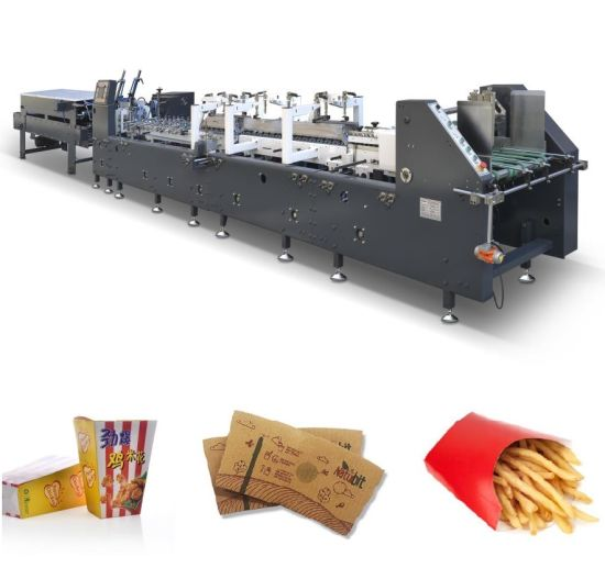 Automatic Shoes Paper Box Packaging Folding and Gluing Box Making Machine (AS-650B)