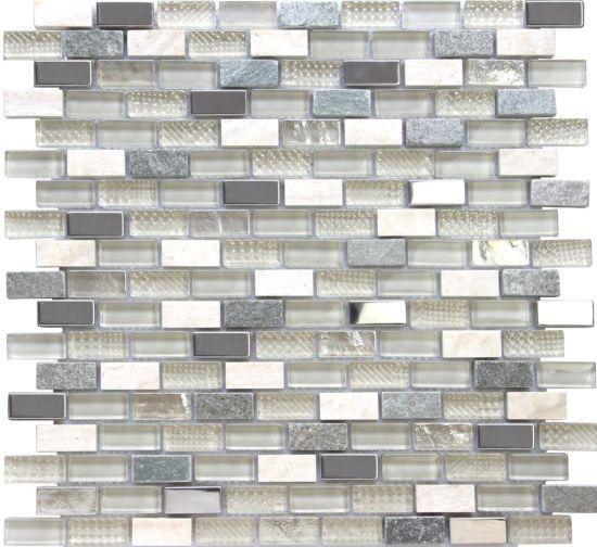 China Cheap Kitchen Backsplash Texture Strip Blend Stone