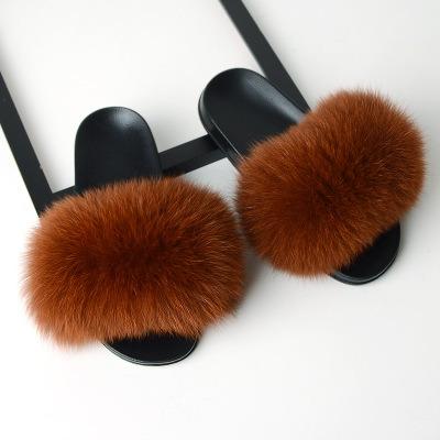Women Faux Fur Sandals, Furry Sandals Women, Custom Slipper Fur Women Fluffy Slides Fur Sandals