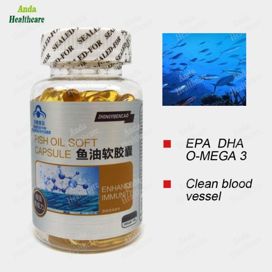 Chinese Health Food Omega-3 DHA Dpa Supplement Best Dietary Supplement Fish Oil (100 capsule)