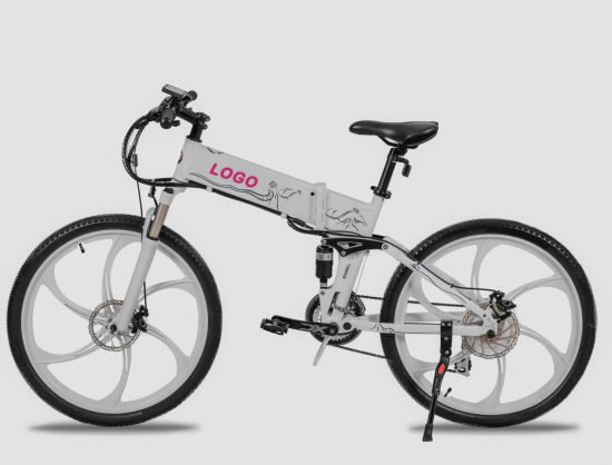 """26"""" Wheels Foldable Electric Bicycle with Magnesium Alloy for Adult"""