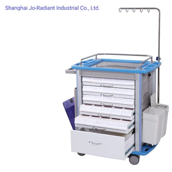Medical Supplies Hospital ABS Nursing Trolley