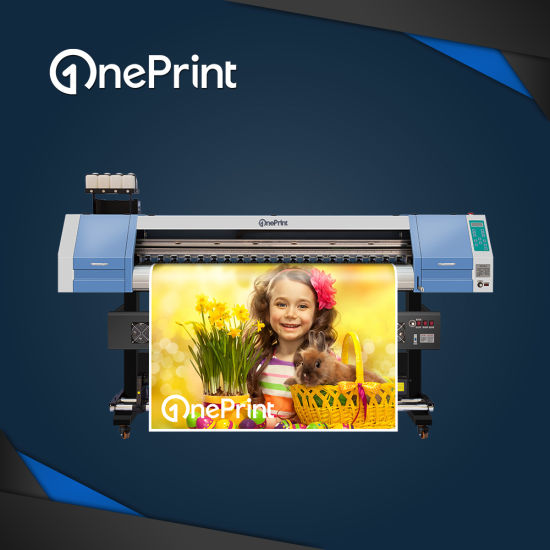 Oneprint 1.8m 1440dpi Sj-1800 Eco Solvent Printer for Indoor and Outdoor Printing