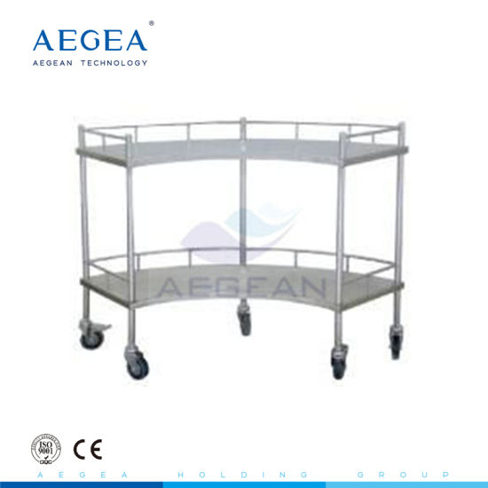 AG-Ss007 Stainless Steel Apparatus Hospital Medical Cart for Sale