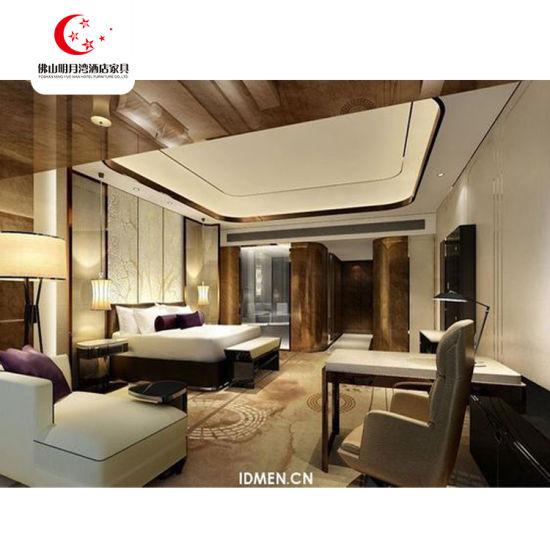 Rubber Oak Wood Panel Bed Design Furniture Wooden Resort Hotel Project