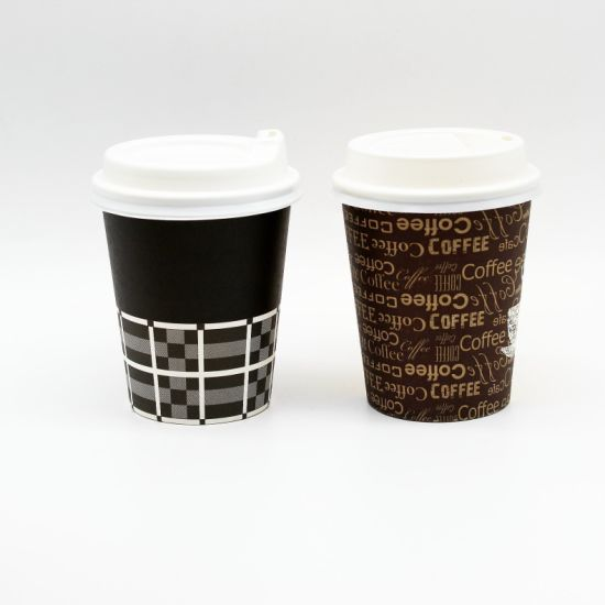 4a6057c8fc5 Wholesale Custom Disposable PLA Coating Paper Coffee Cups with Lid pictures  & photos