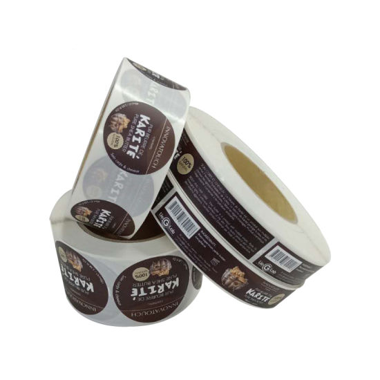 Black Base Printing Gold Water-Proof Custom Logo PVC Sticker