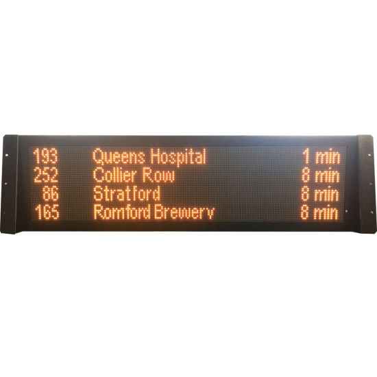 48X144 Dots 4 Lines Screen LED Bus Stop Display