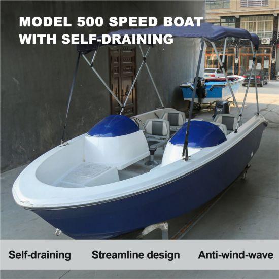 Model 500 Fiberglass Luxury Fishing Speed Yacht Boat