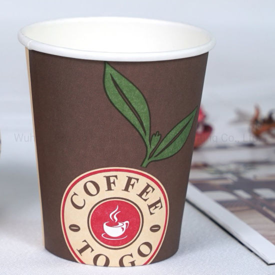 Take Away of Custom Design Disposable Single Wall Hot Drinks Paper Cups
