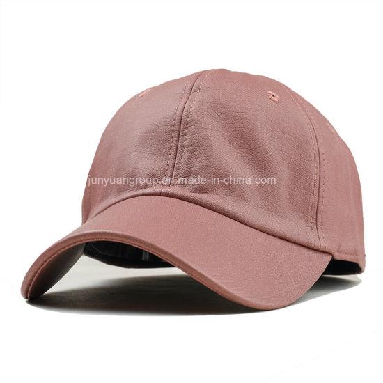 25c90f3603d8 China Hot-Sale Quality Custom 6-Panel Fake Leather Hat Baseball Cap ...