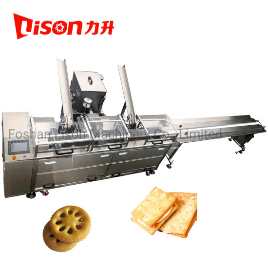 New Condition Small Scale Nougat and Jam Making Biscuit Sandwiching Machine Most Popular in Thailand