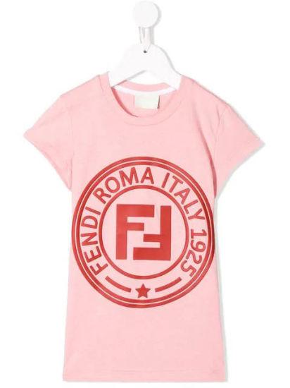 d5e6d5c08 Girls′s Pink Cotton Short Sleeves Printed T-Shirt