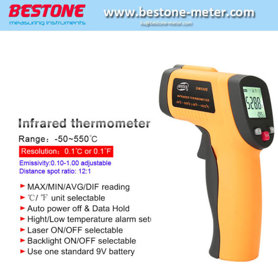 GM550e New Popular Digital Laser Oven LED Color Thermometer Infrared Intrinsically Safe