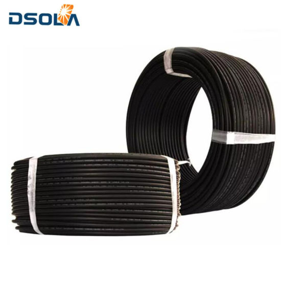 Dsola China Supplier Dust Proof DC Solar PV Cable 4mm