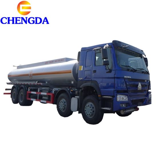 25000-30000L HOWO Fuel Truck for Gasoline Transportation pictures & photos