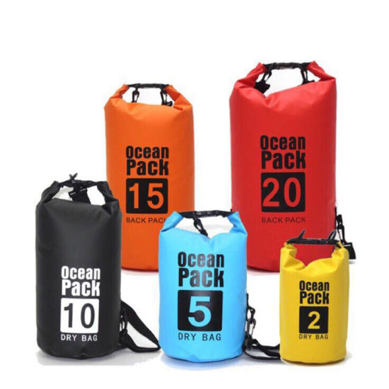 Outdoor 10L PVC Dry Bag with Shoulder Strap Ocean Pack for Swimming