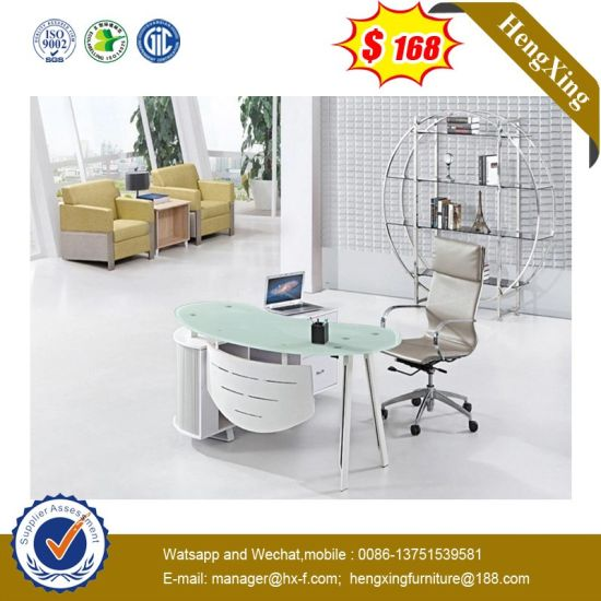 Hot Sell School Lab Tempered Glass Office Modern Standing Desk pictures & photos