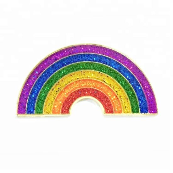 Custom Gay & Lesbian Pride Lgbt Rainbow Enamel Lapel Pin with Custom Backing Card pictures & photos