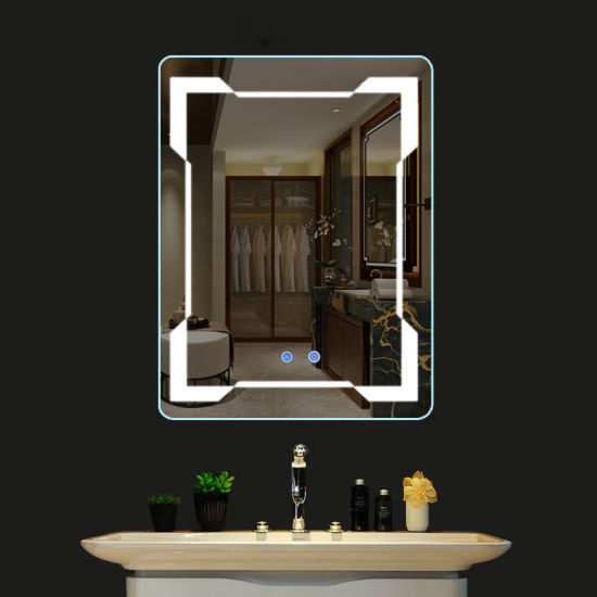 Anti Fog Bathroom Mirror Touch Screen Makeup With Led Light