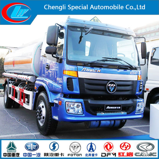 Euro III 2 Axle Aluminum Fuel Tank Truck of 15cbm Capacity pictures & photos